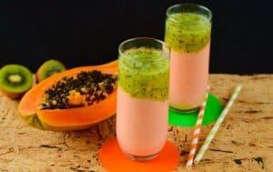 hígado graso kiwi y papaya