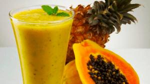 Jugo detox papaya y piña