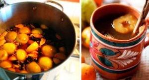 Ponche de frutas navideño para bajar de peso