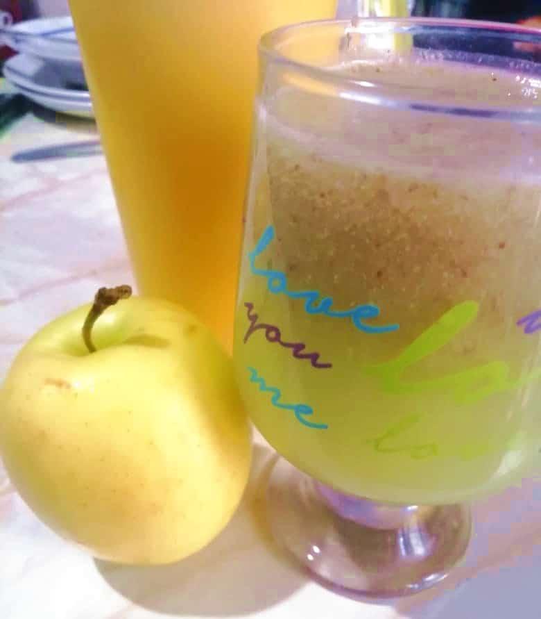 Jugo Detox de Manzana Amarilla para mejorar tu digestión